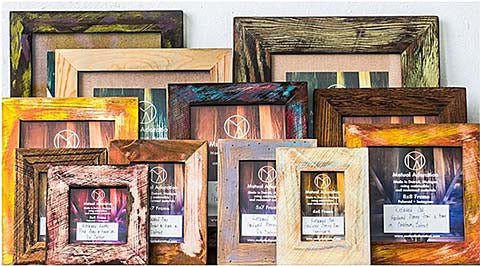Reclaimed Wood Picture Frames Made in Detroit by Mutual Adoration