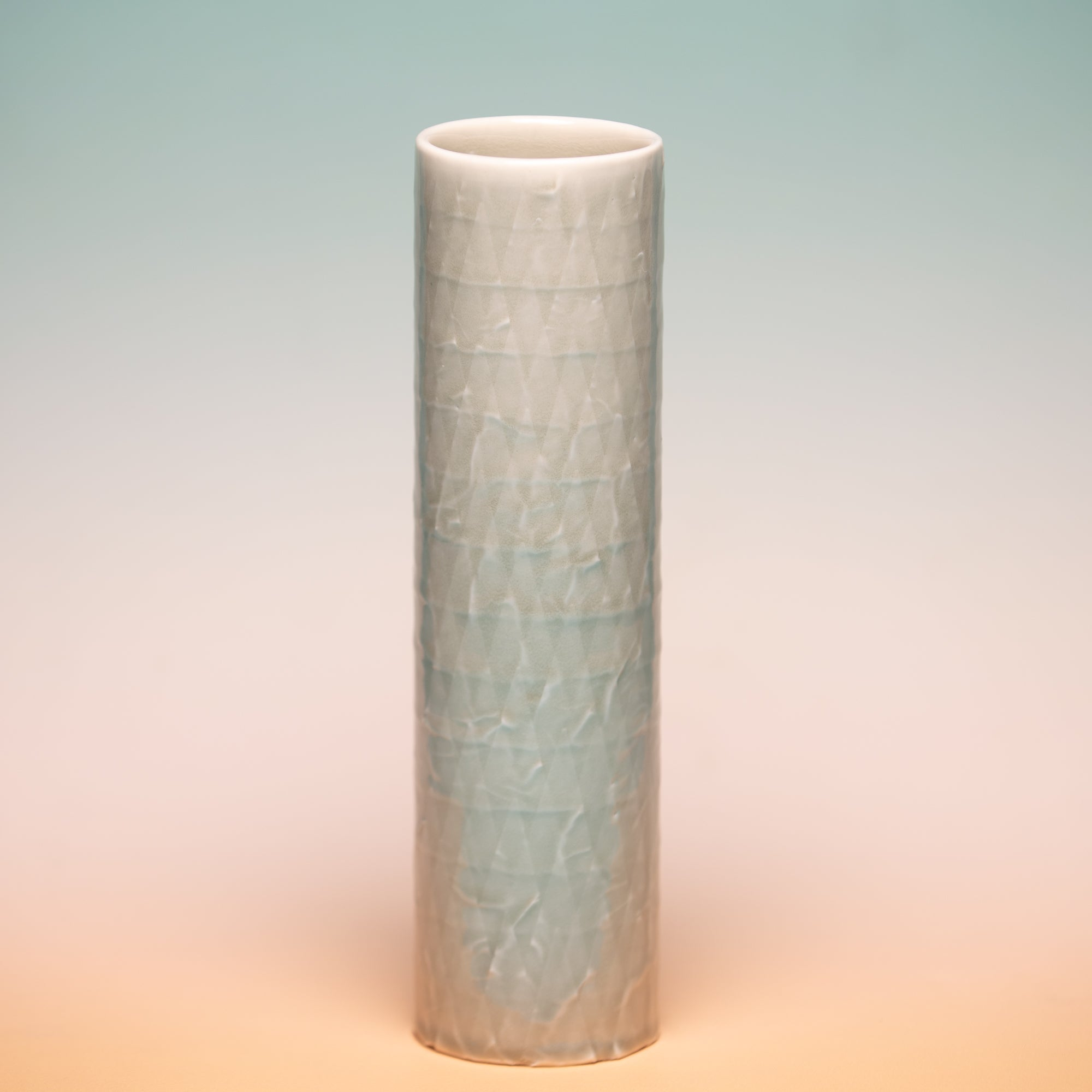 Abigail Murray Skinny Vase Triangles Green, Abigail Murray, Handcrafted Home Goods and Gifts