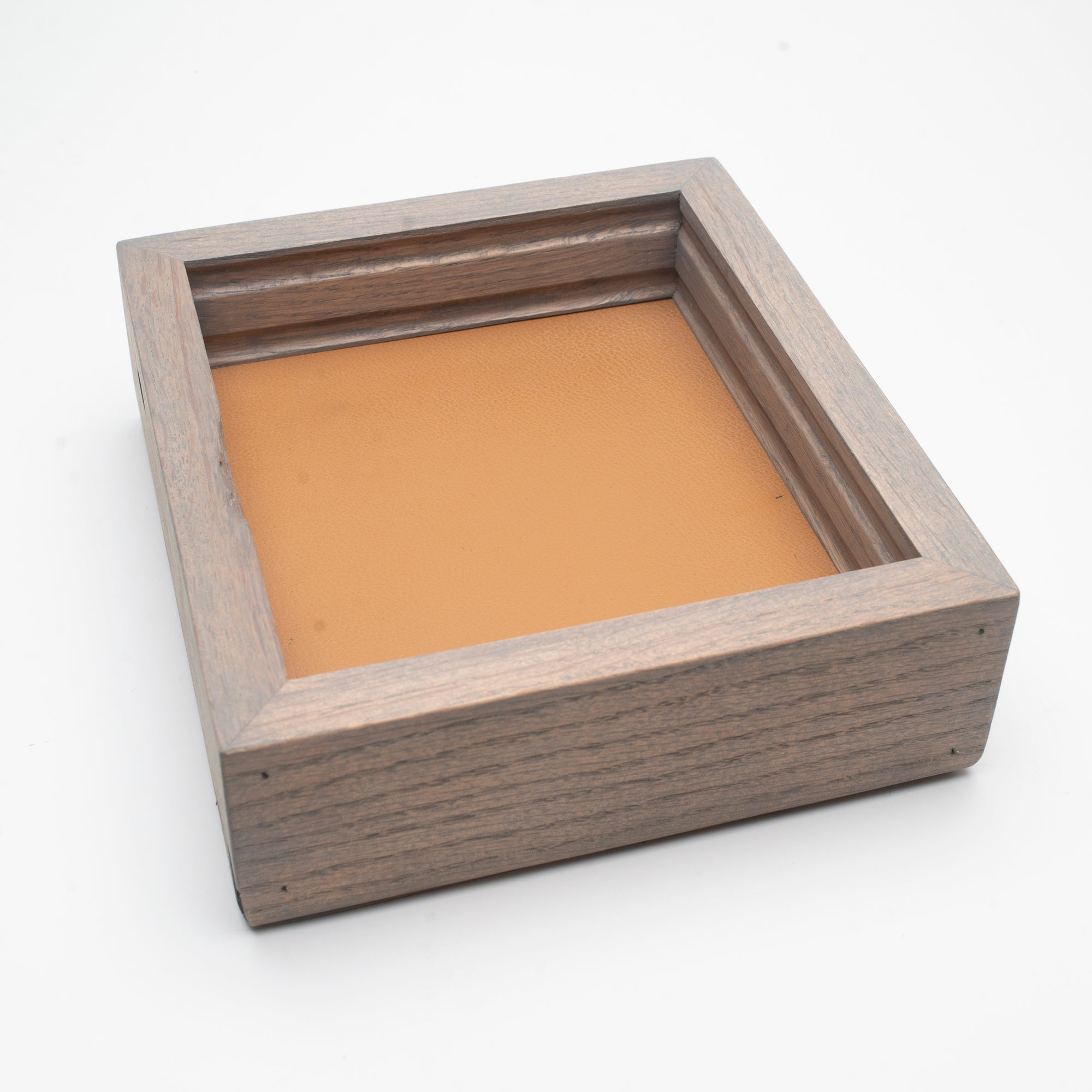 Addison Valet Tray - Camel Tan Leather + Gray Oak