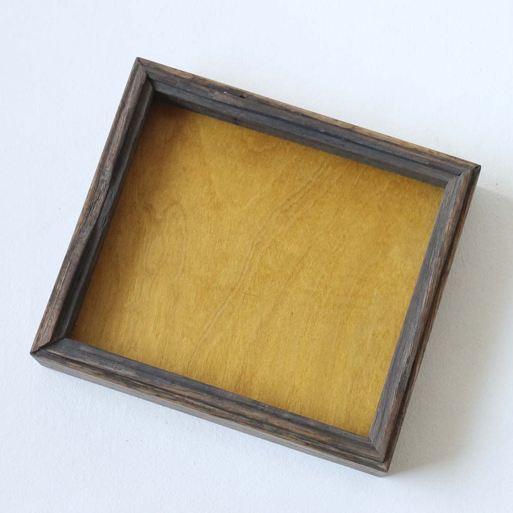 Canfield Valet Tray - Mustard Yellow + Weathered Oak