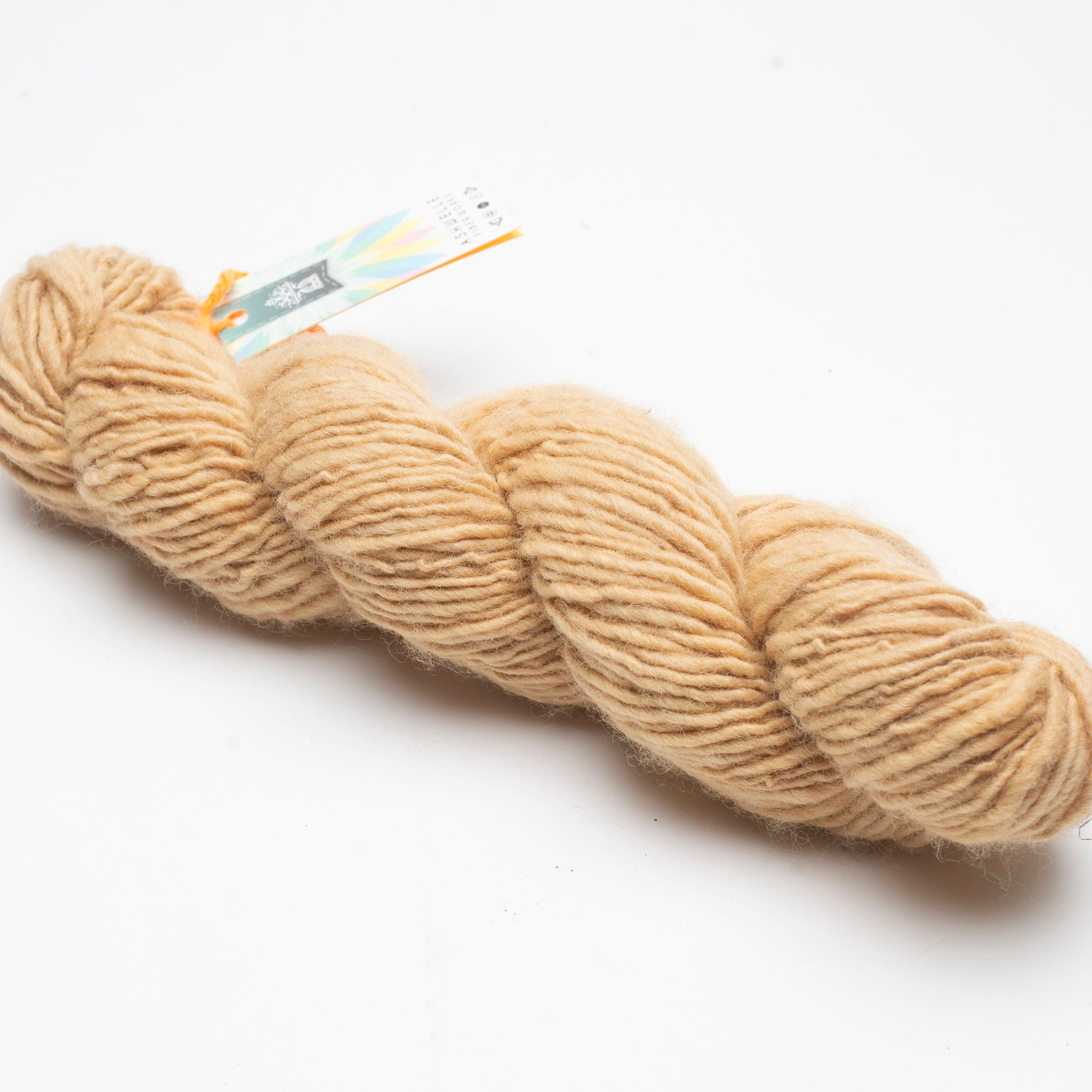 Yarn - Hand Spun Polwarth Naturally Dyed with Eucalyptus, Ashwelle Fiber Works, Handcrafted Home Goods and Gifts