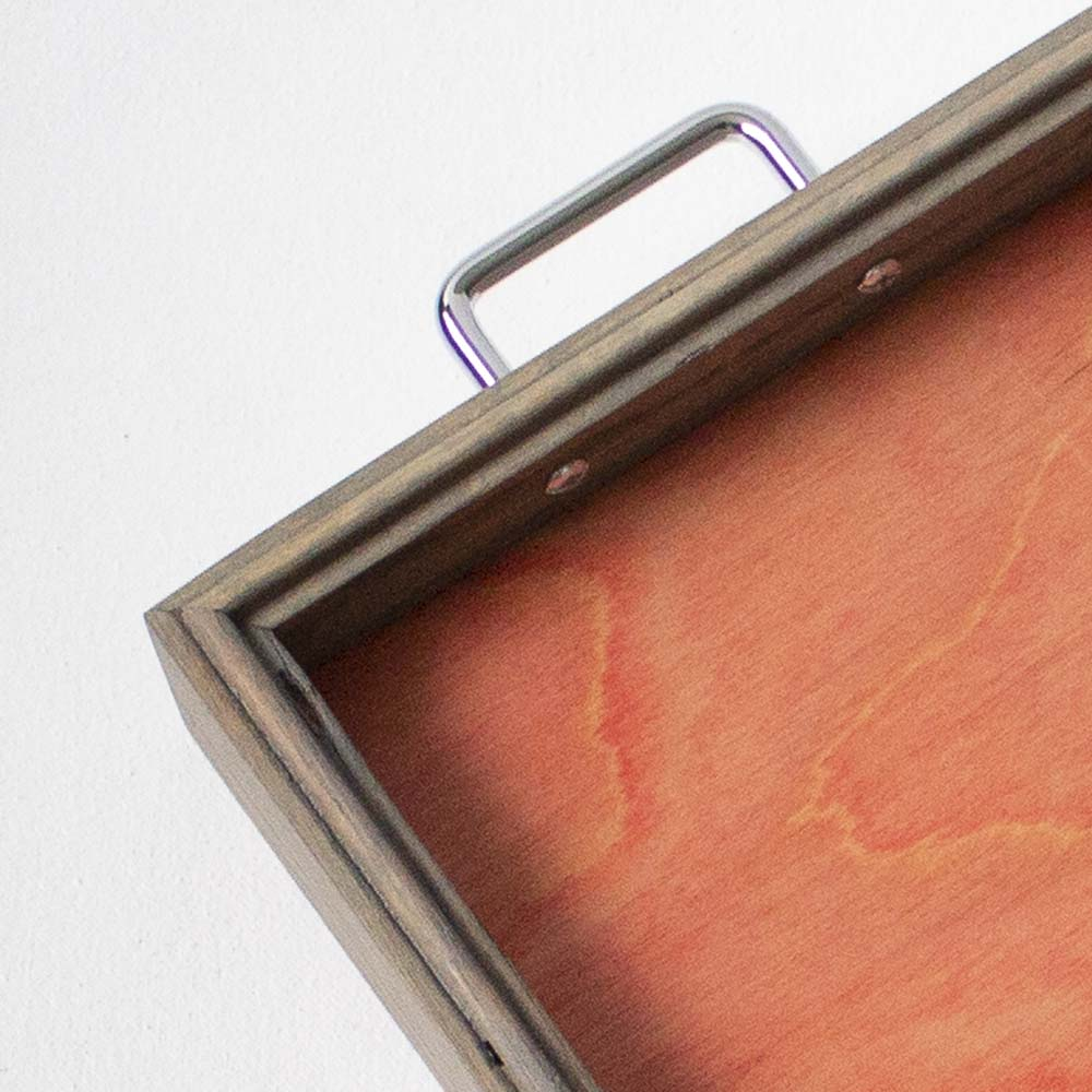 Canfield Cocktail Tray - Pink Birch + Gray Oak