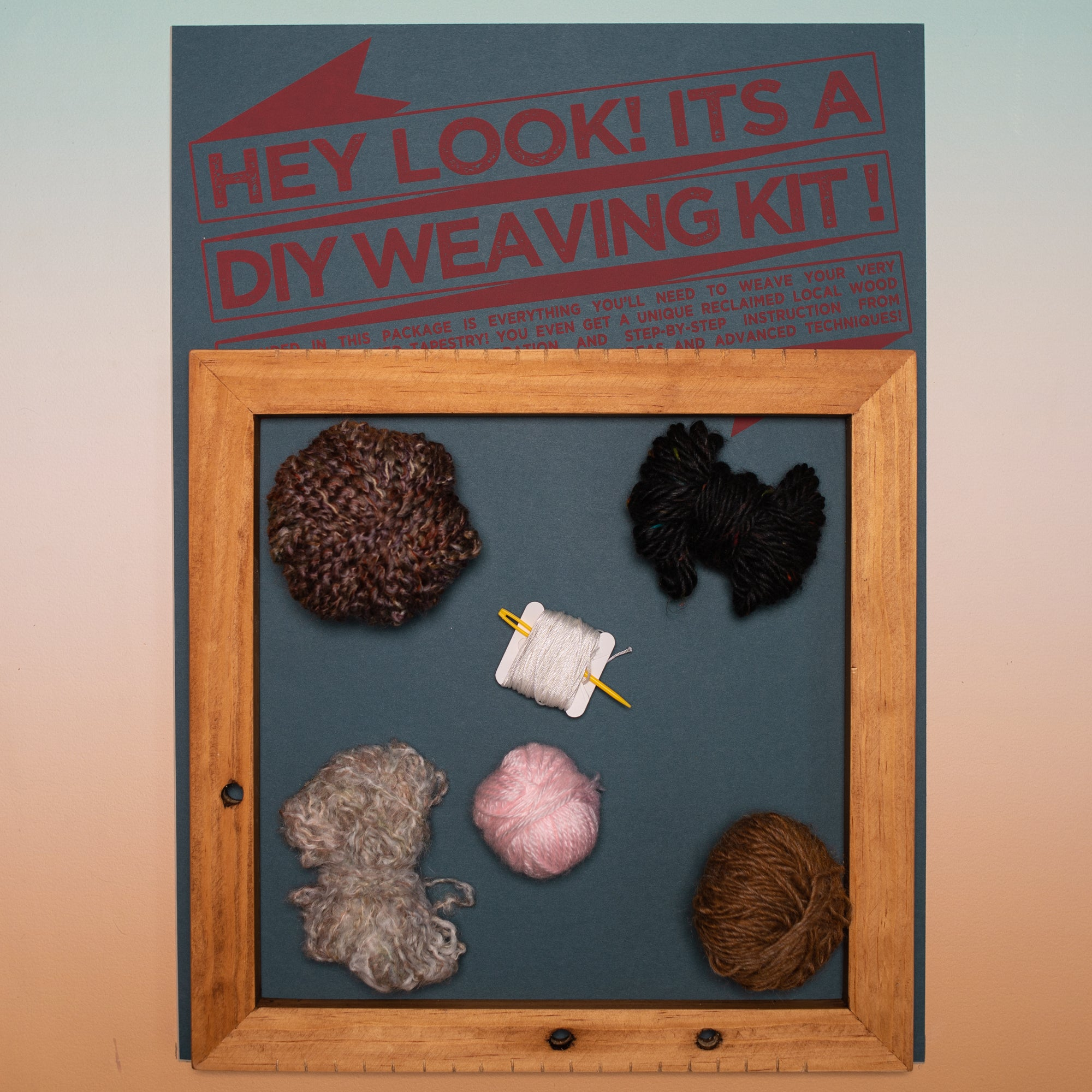 Weaving Kit 076 by Electric Pink + Mutual Adoration, Electric Pink + Mutual Adoration, Handcrafted Home Goods and Gifts
