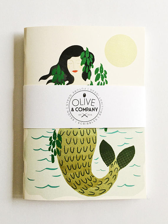Olive & Company - Mermaid Blank Journal
