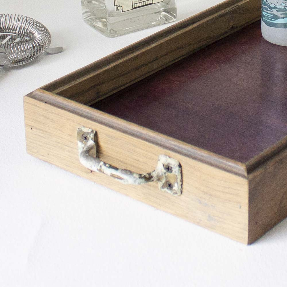 Canfield Cocktail Tray - Purple Birch + Gray Oak