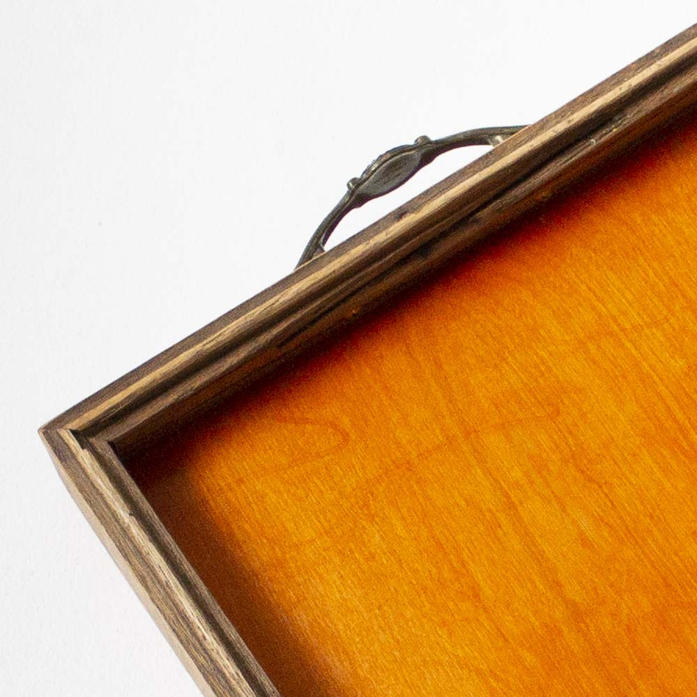 Canfield Cocktail Tray - Orange Birch + Golden Oak