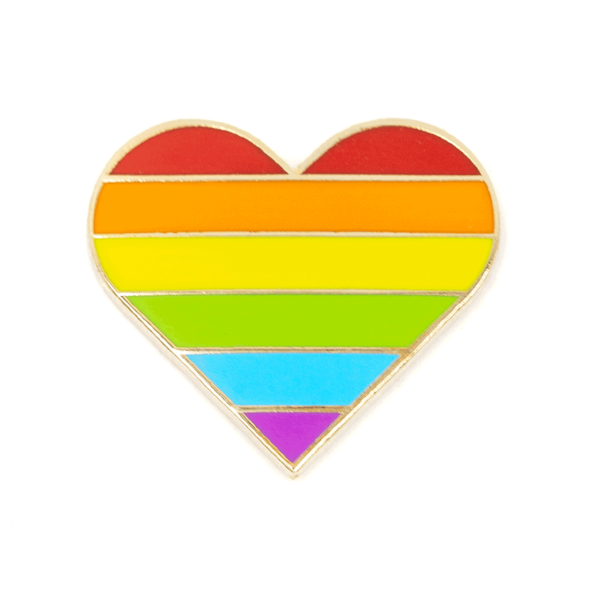 Enamel Pin - Rainbow Pride Heart, These Are Things, Handcrafted Home Goods and Gifts