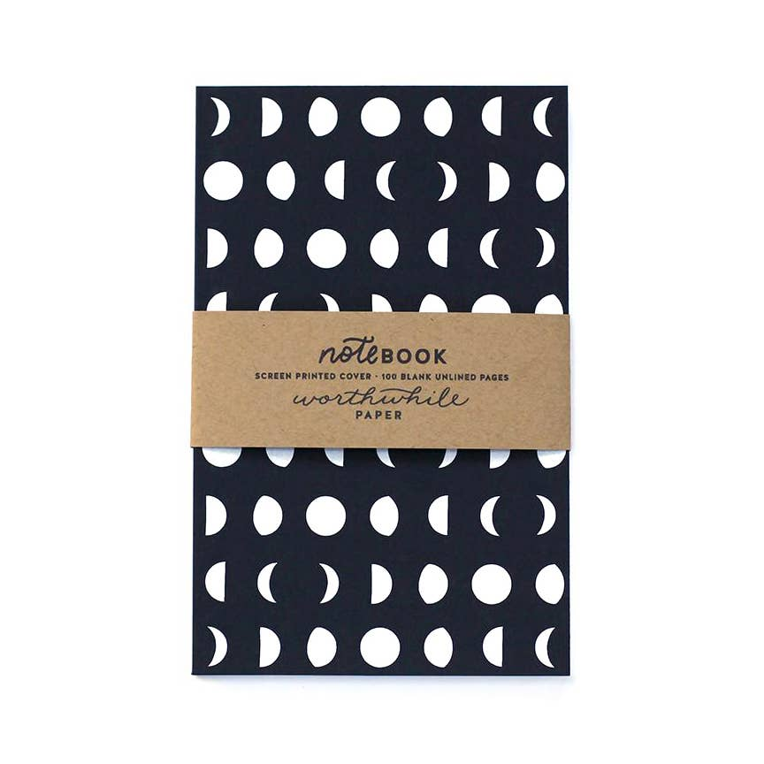 Notebook - Moon, Worthwhile Paper, Handcrafted Home Goods and Gifts