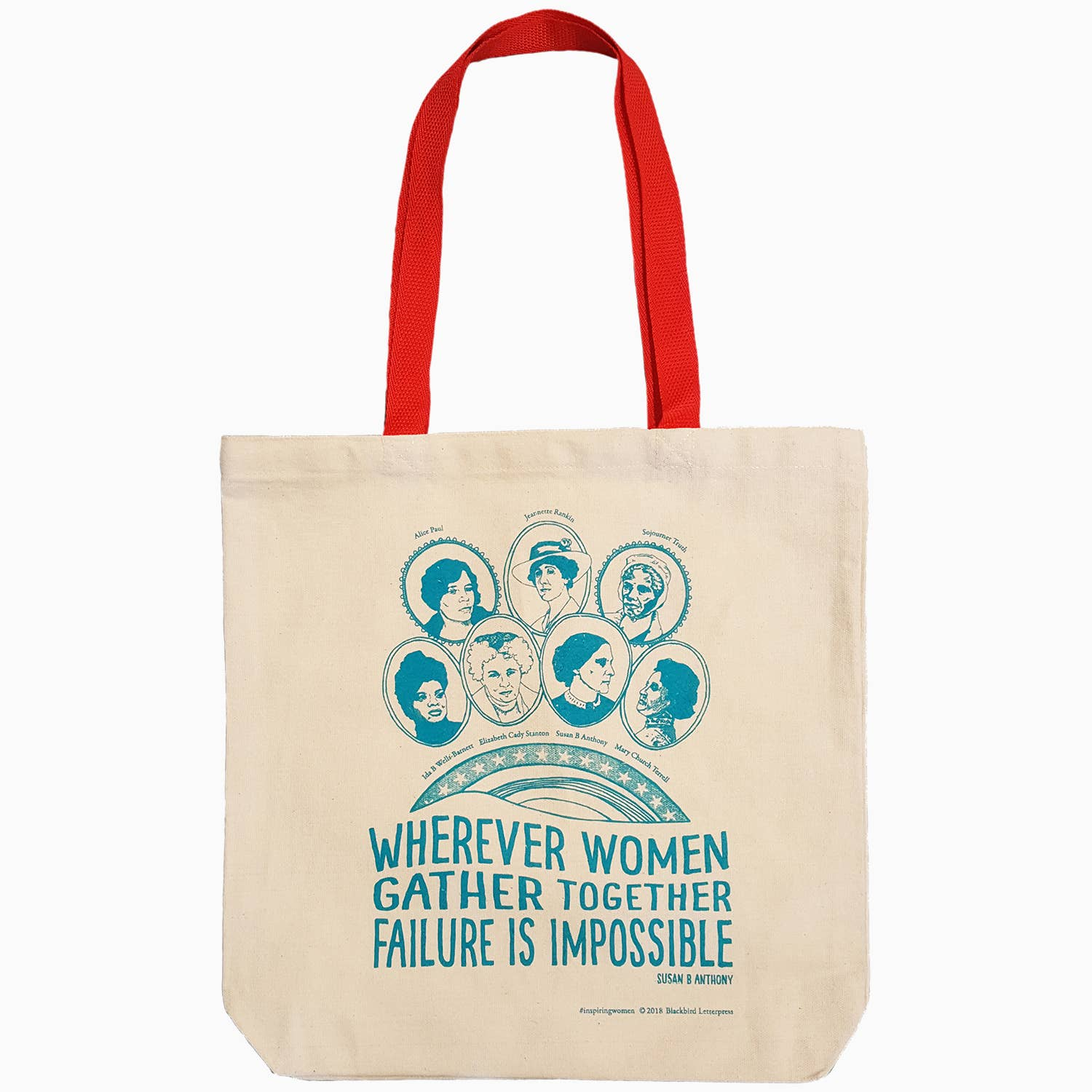 Inspiring Women Canvas Tote with Susan B. Anthony Quote