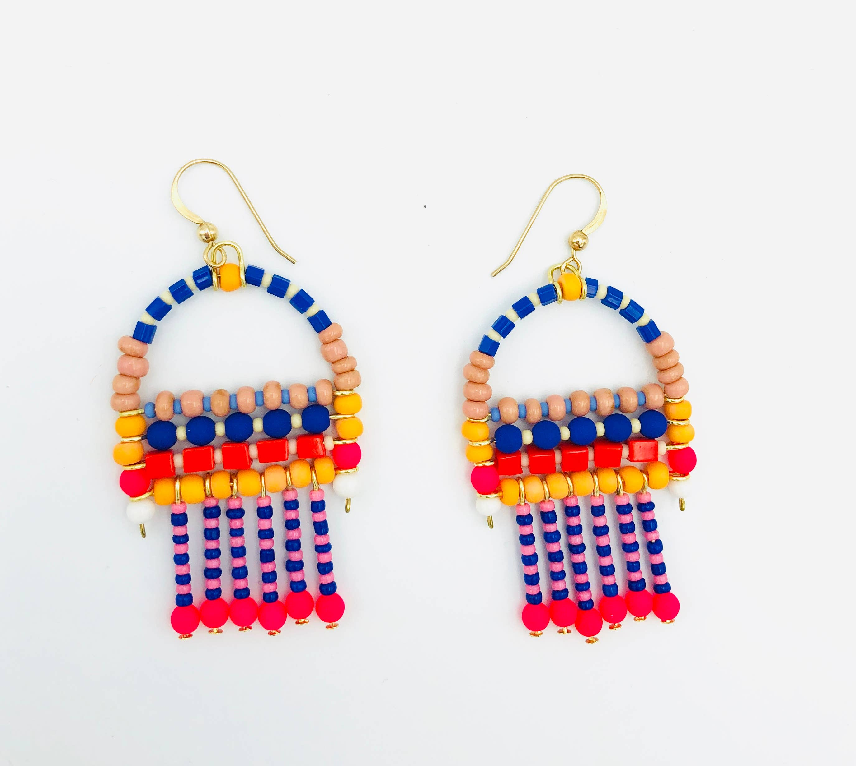 Paradise Brightly Beaded Earrings, Erica Kane Fink, Handcrafted Home Goods and Gifts