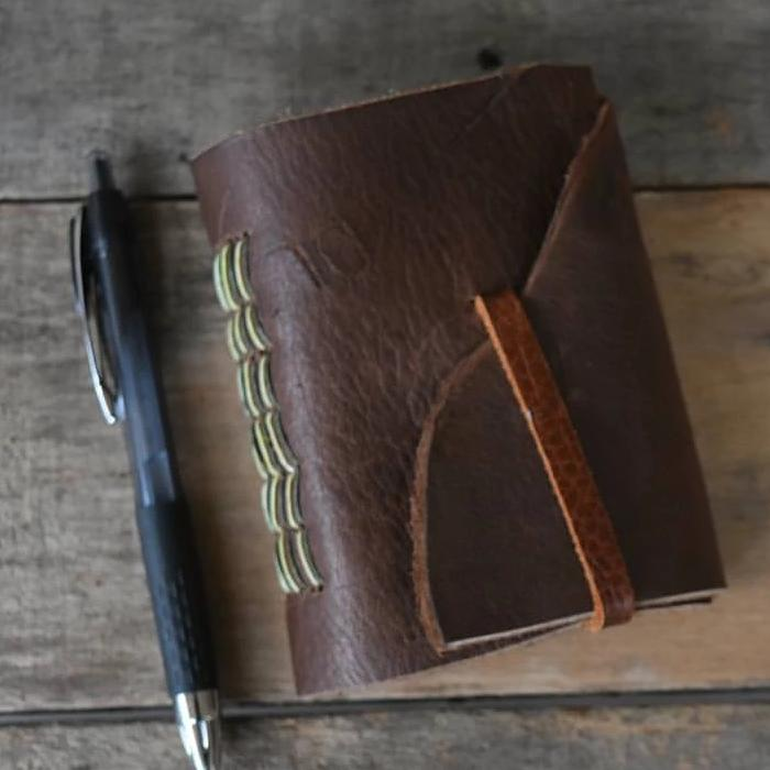 03/04 Bookbinding Workshop: Leather Longstitch Journal on Wednesday March 4 at 6pm