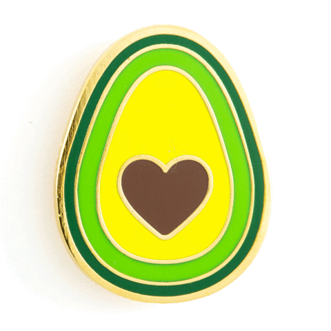 Enamel Pin - Avocado Heart, These Are Things, Handcrafted Home Goods and Gifts