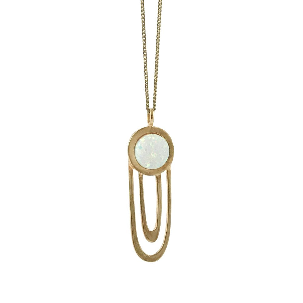 Therese Kuempel - Large Ripple Necklace With Opal