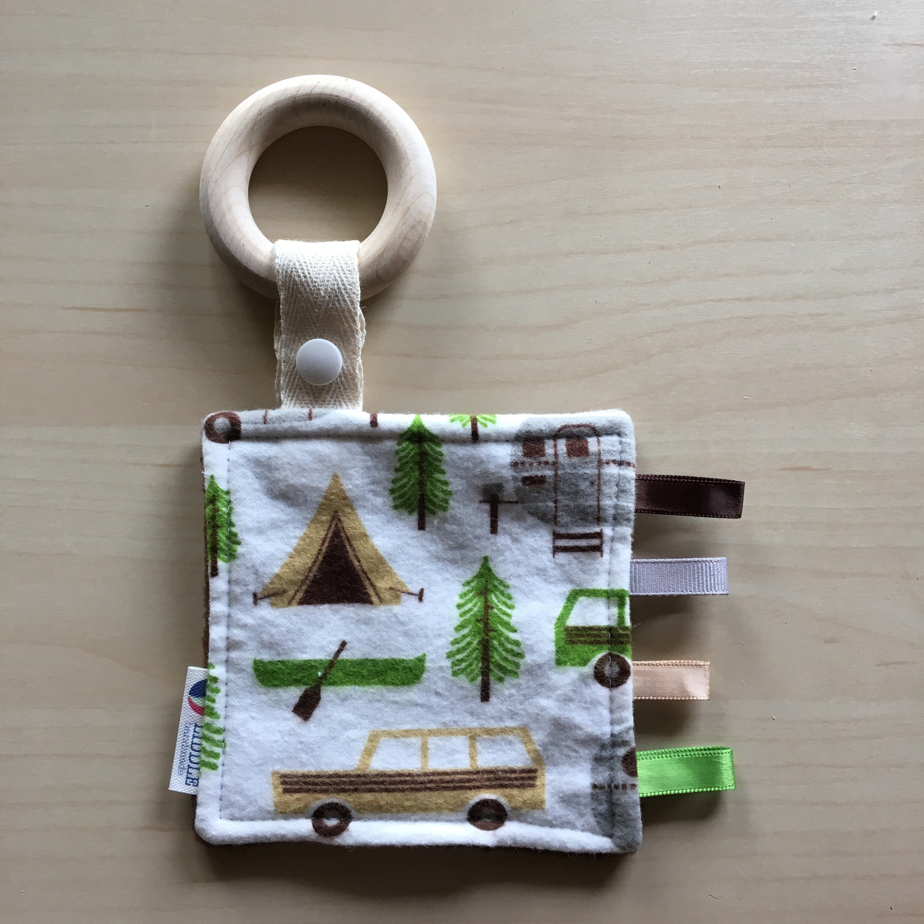 Baby - Retro Camping Wooden Sensory Teether