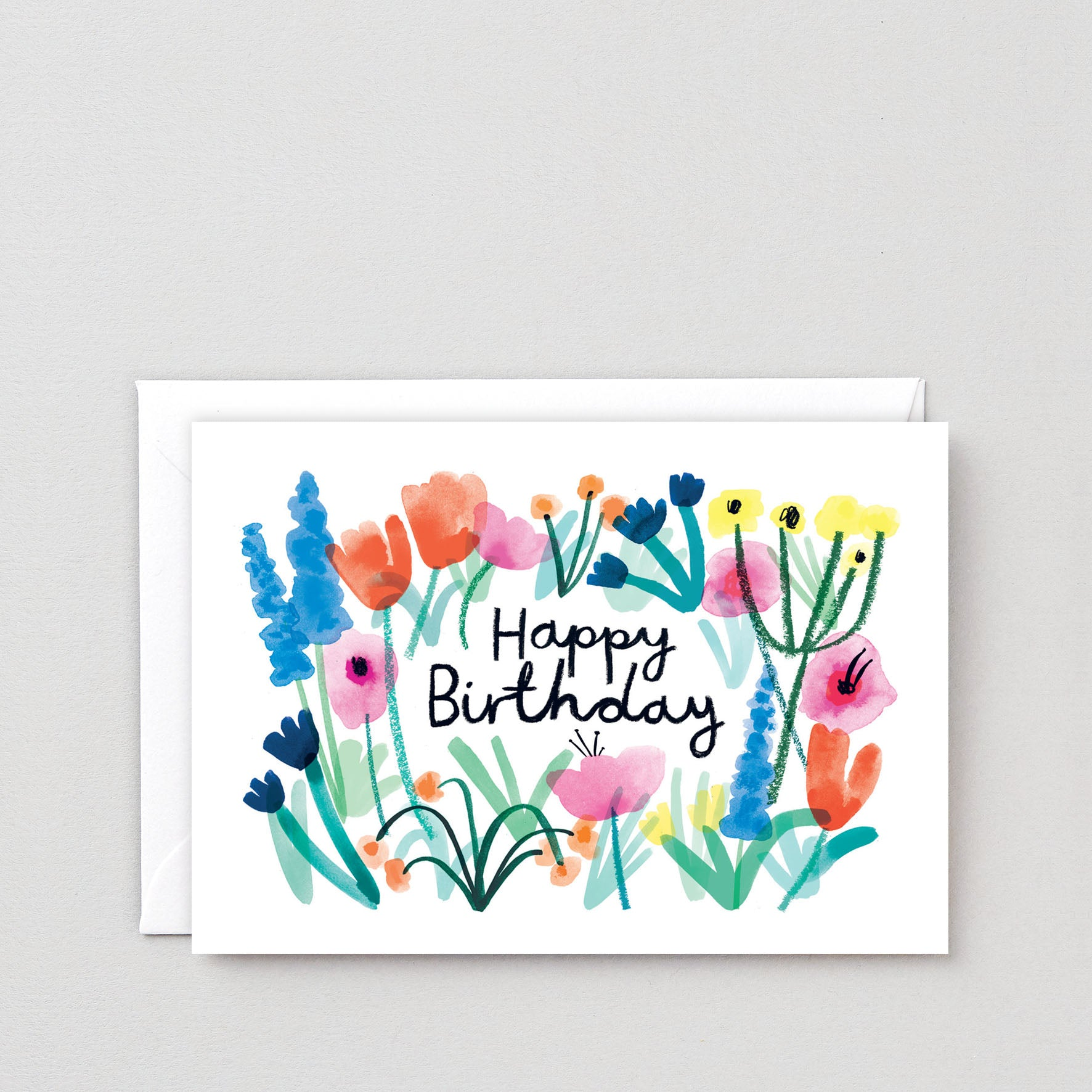 Birthday Card - Floral Birthday Greetings, Wrap, Handcrafted Home Goods and Gifts