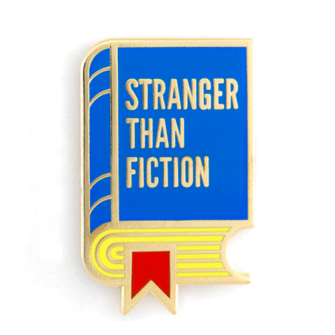 Enamel Pin - Stranger Than Fiction Book