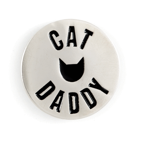 Enamel Pin - Cat Daddy, These Are Things, Handcrafted Home Goods and Gifts