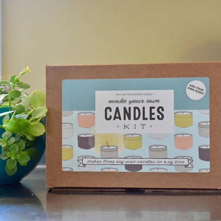 Unscented Soy Candle Kit, Revival Homestead Supply, Handcrafted Home Goods and Gifts