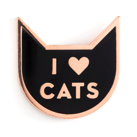 Enamel Pin - I Heart Cats