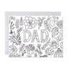 Father's Day Card - Dad Coloring Card