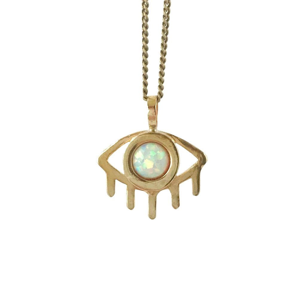 Therese Kuempel - Eye Necklace With Opal