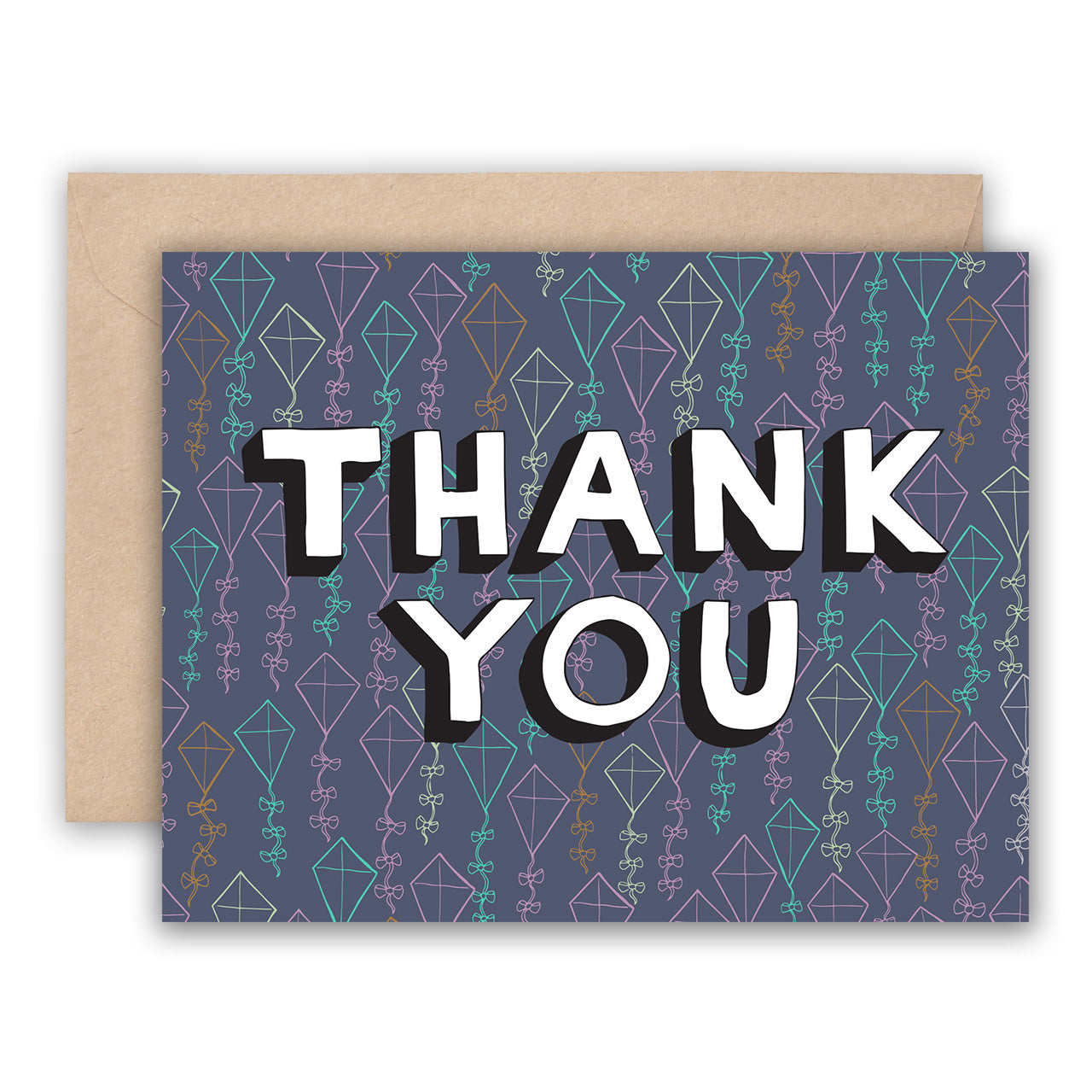 Thank You Card - Blue Geometric Kites, Jodi Lynn Burton, Handcrafted Home Goods and Gifts
