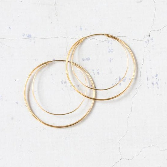 Elaine B - Endless Layer Gold Hoop Earring, Elaine B, Handcrafted Home Goods and Gifts