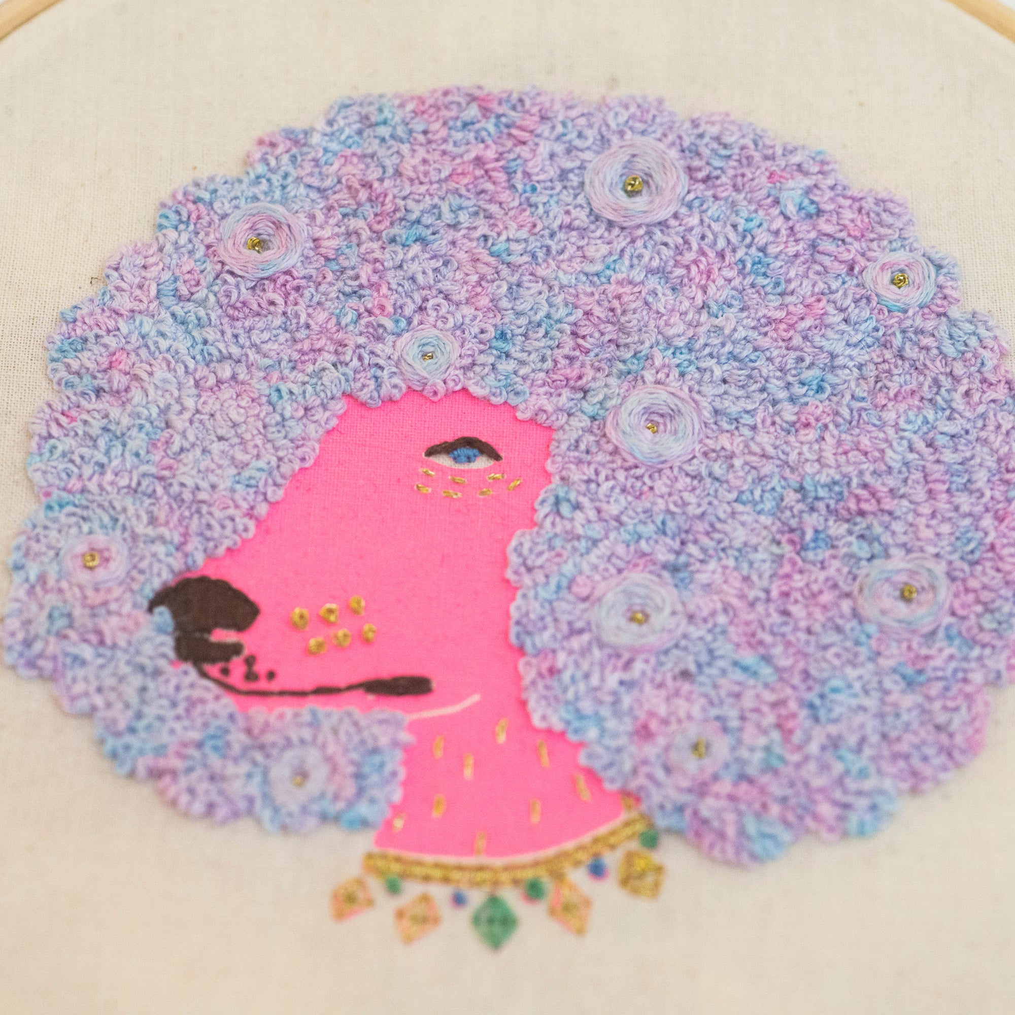 Embroidery Kit - Fashion Poodle