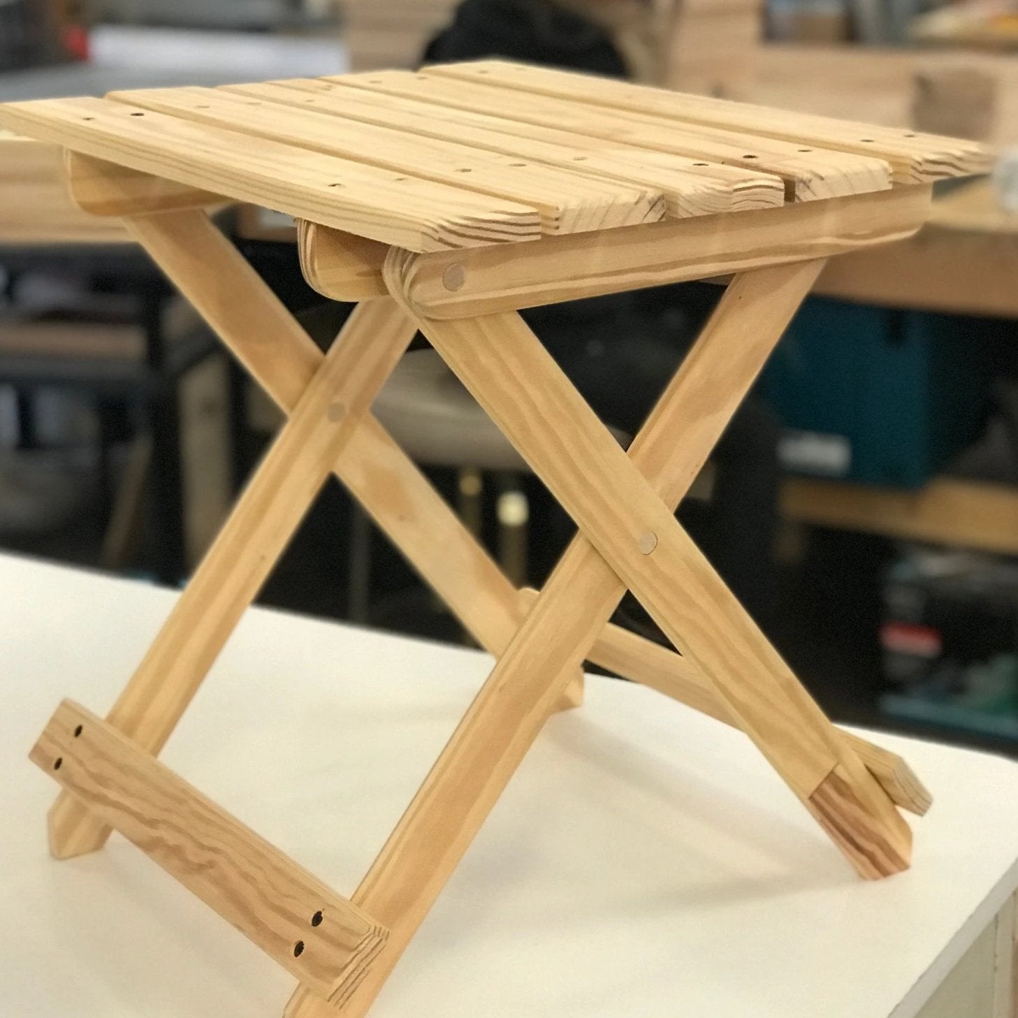 05/24 Woodworking Workshop: Folding Adirondack Table on Sunday May 24 at 10am