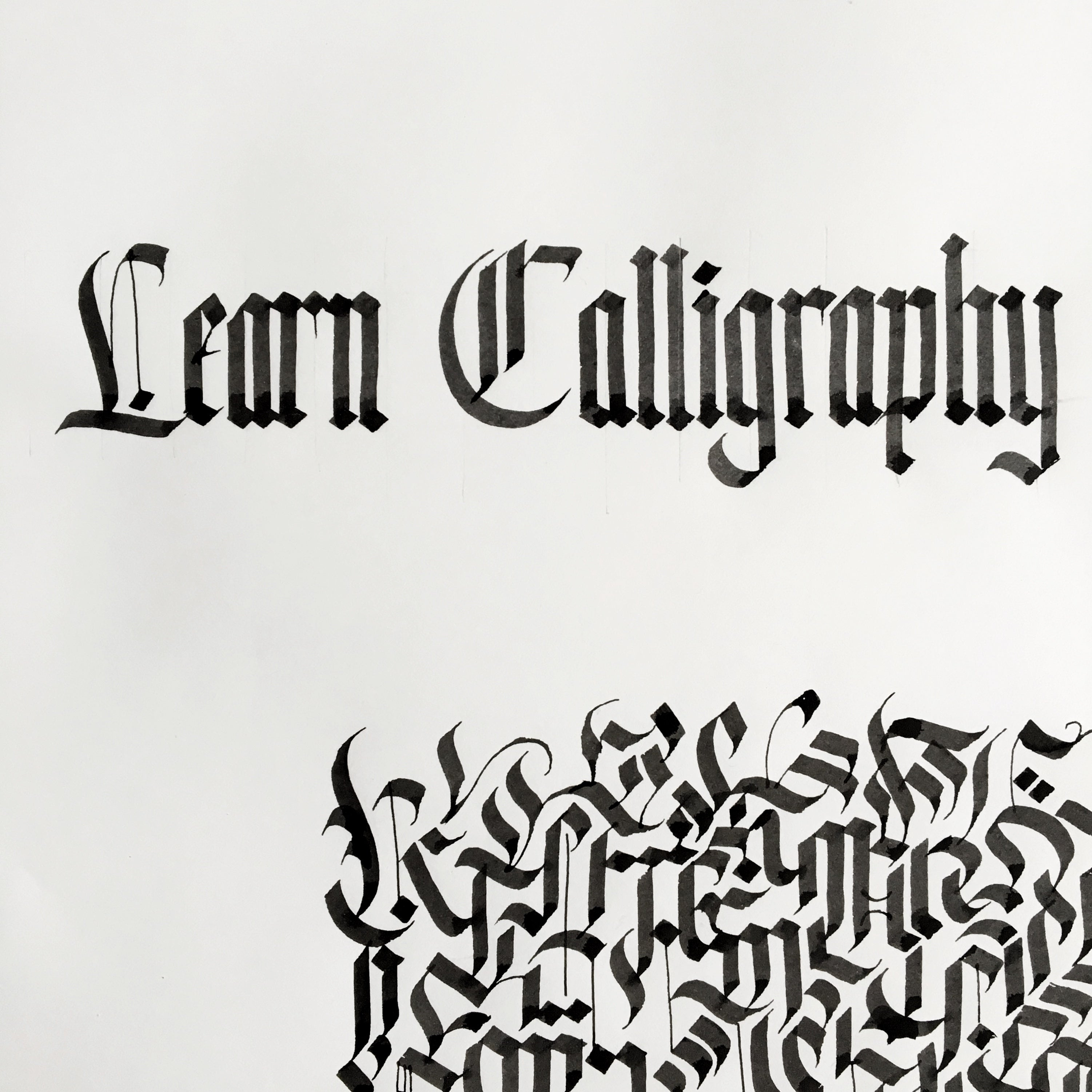 09/21 Calligraphy Workshop: Intro to Blackletter on Saturday September 21 at 10am