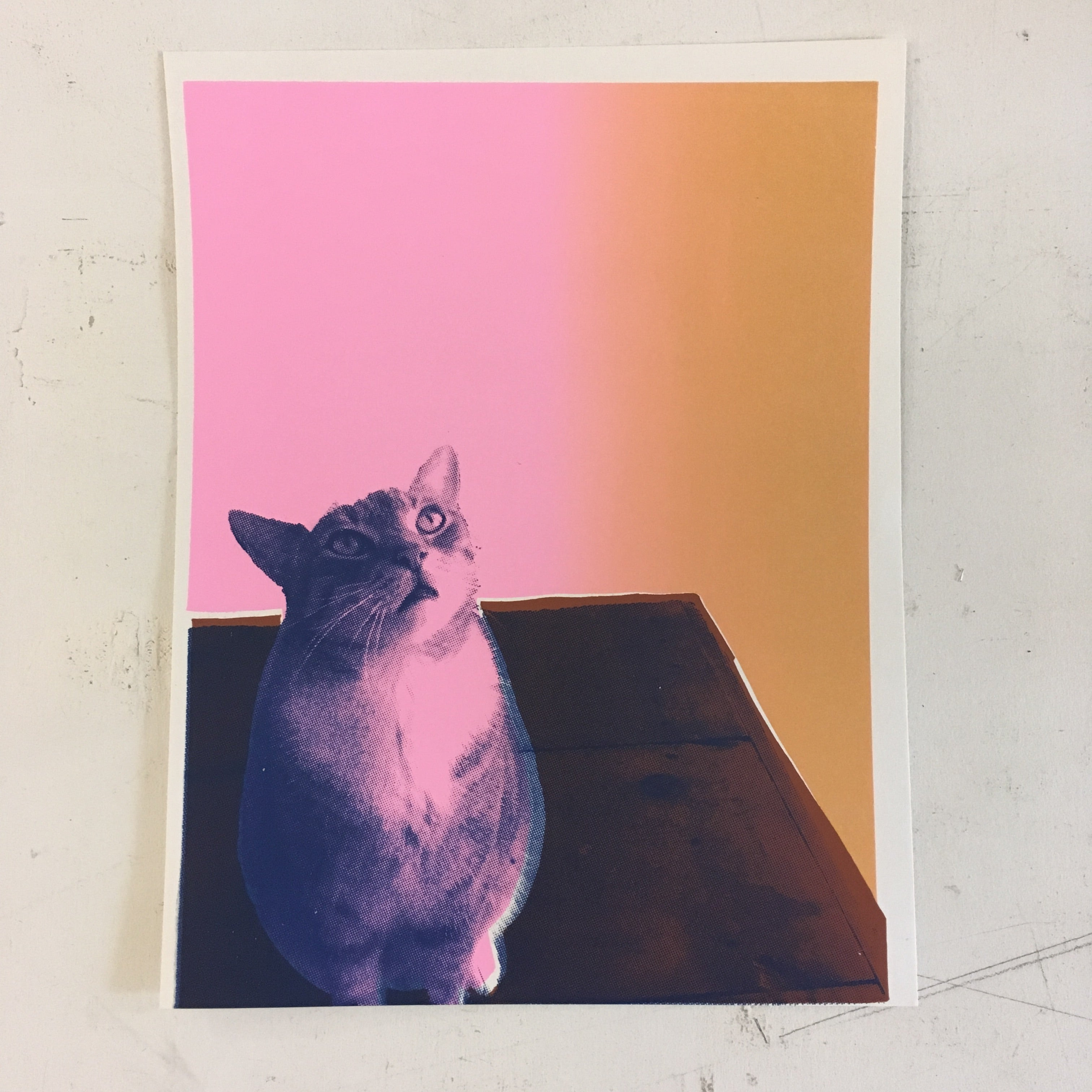 05/03 Screen Printing Workshop: Custom Pet Portraits on Sunday May 3 at 1pm
