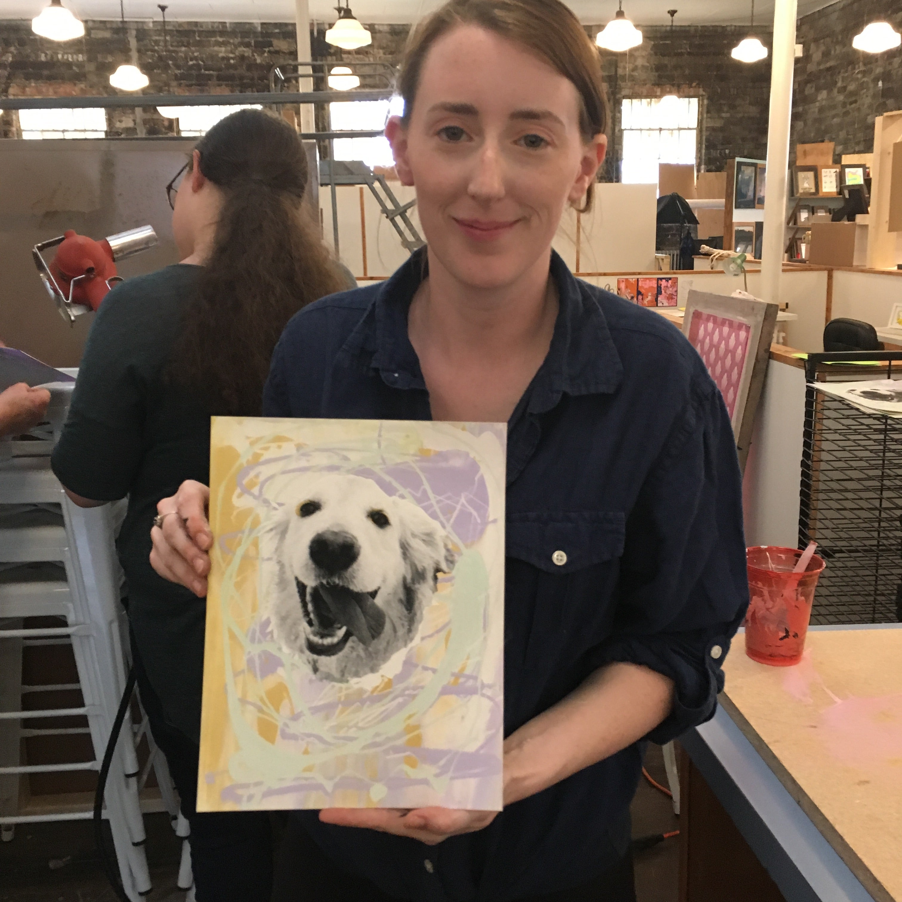 02/16 Screen Printing Workshop: Pet Portraits on Sunday February 16 at 12pm