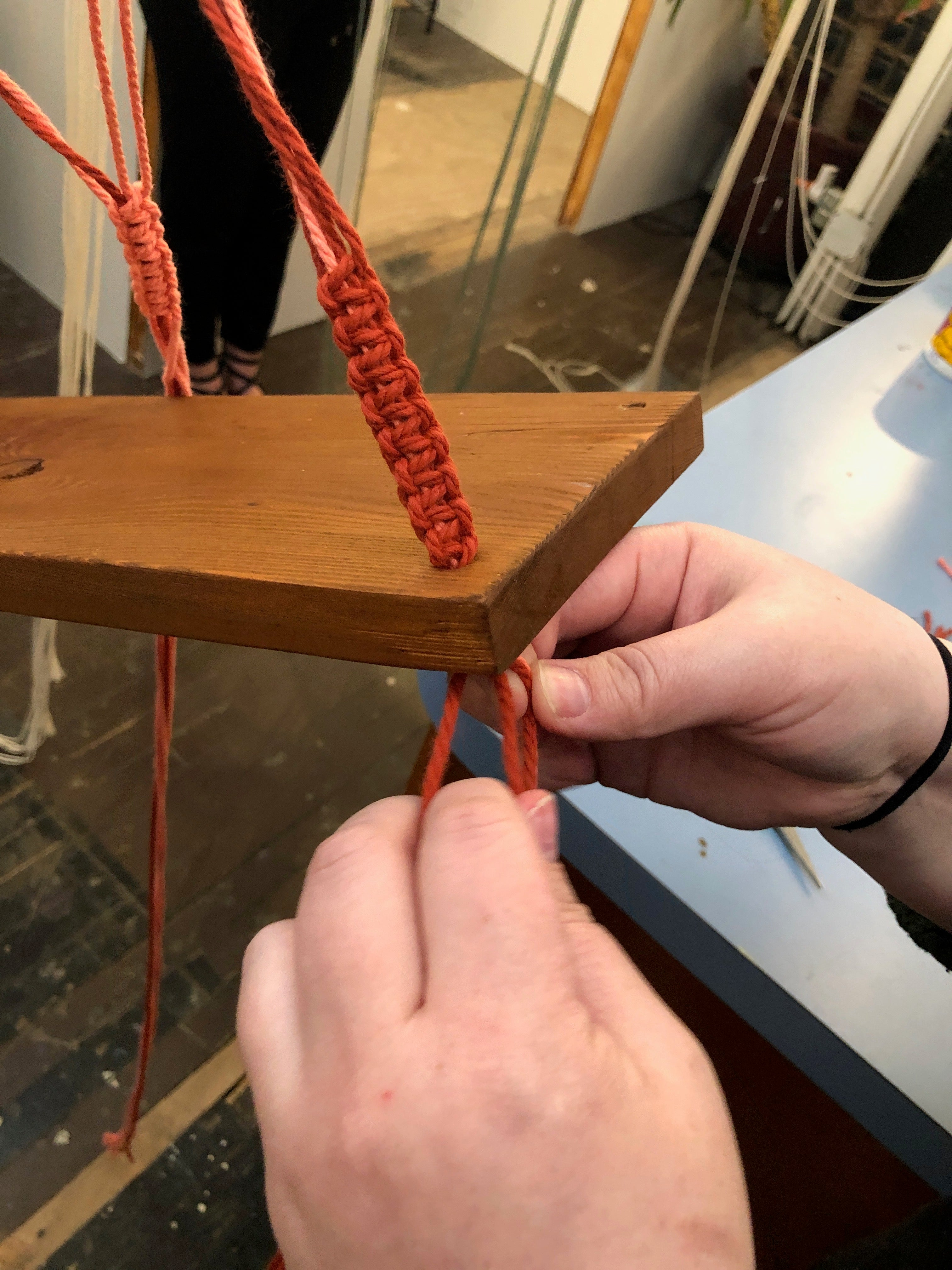 Woodworking + Macrame Workshop: Decorative Hanging Shelves on Sunday August 25 at 1pm