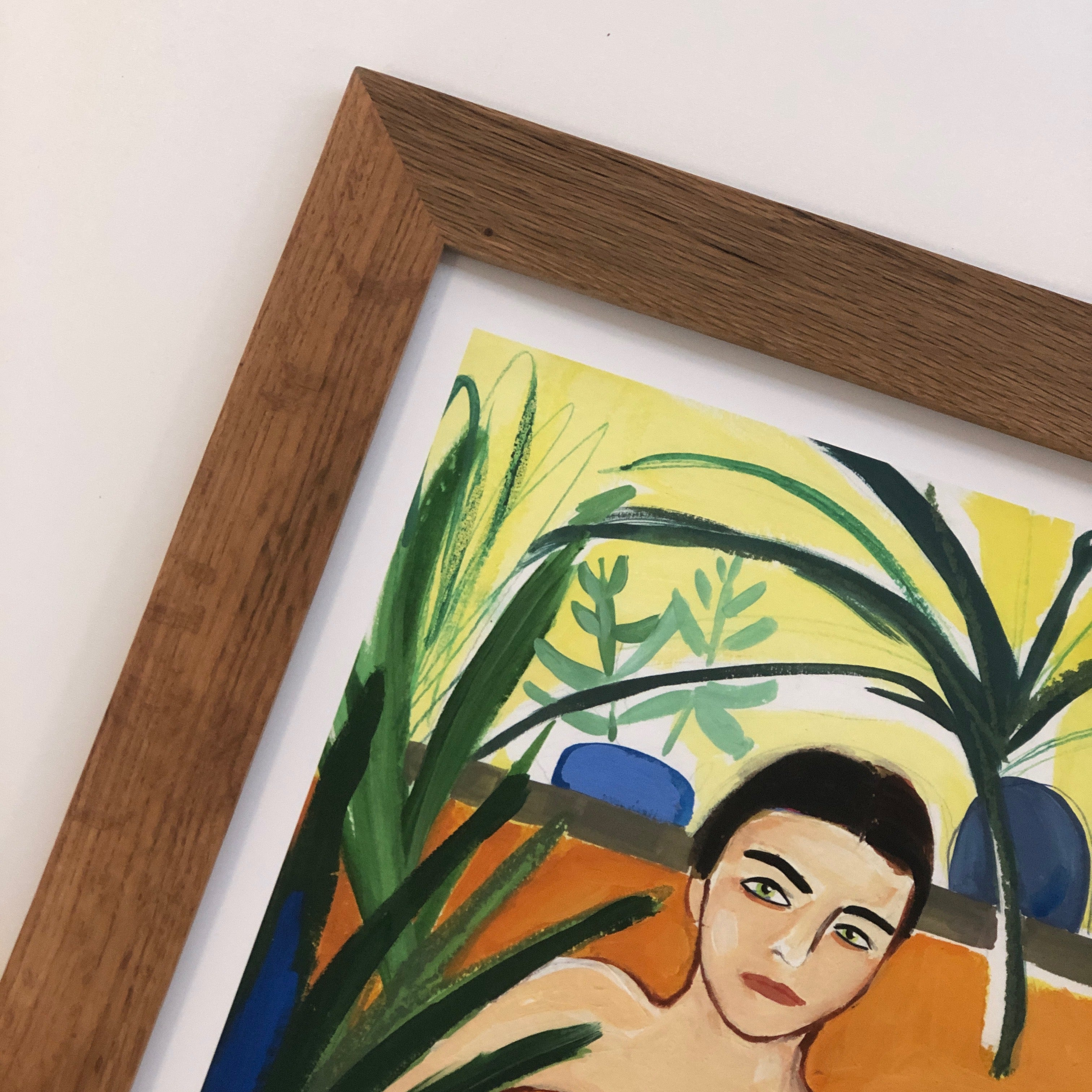 Painted Mary - Woman in Tub - Framed Print