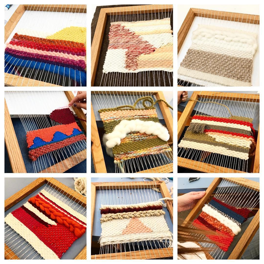 02/15 Weaving Workshop: Framed Wall Hanging on Saturday February 15 at 10am