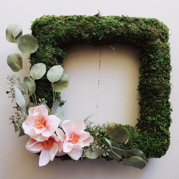 Paper Flower Workshop: Magnolia Moss Wreath on Saturday May 25 at 10am