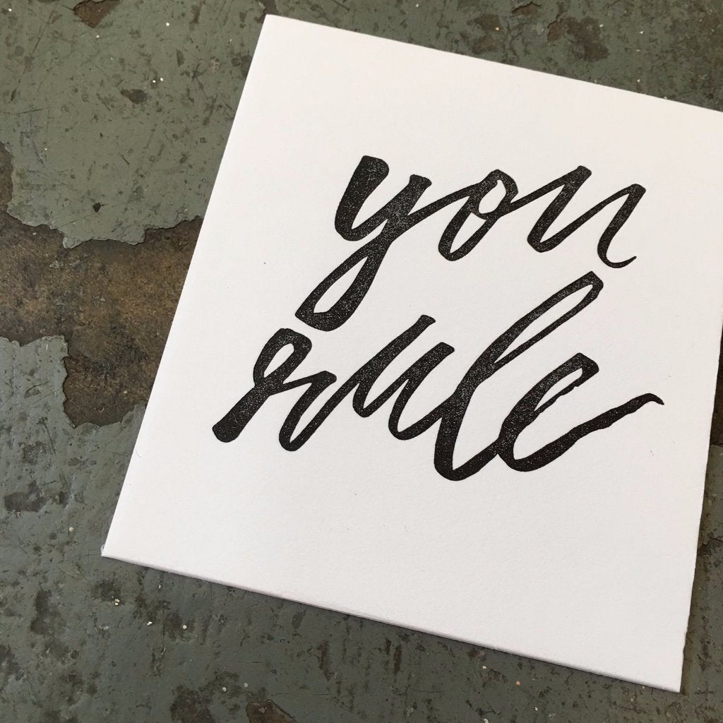 Hand Lettering Workshop: Brush + Ink with Rachael Barlock on Saturday June 1 at 10:30am