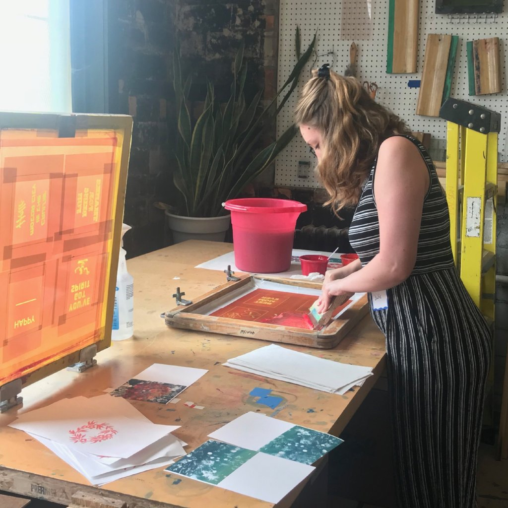 Screen Printing Workshop: Greeting Cards on Saturday July 20 at 2pm