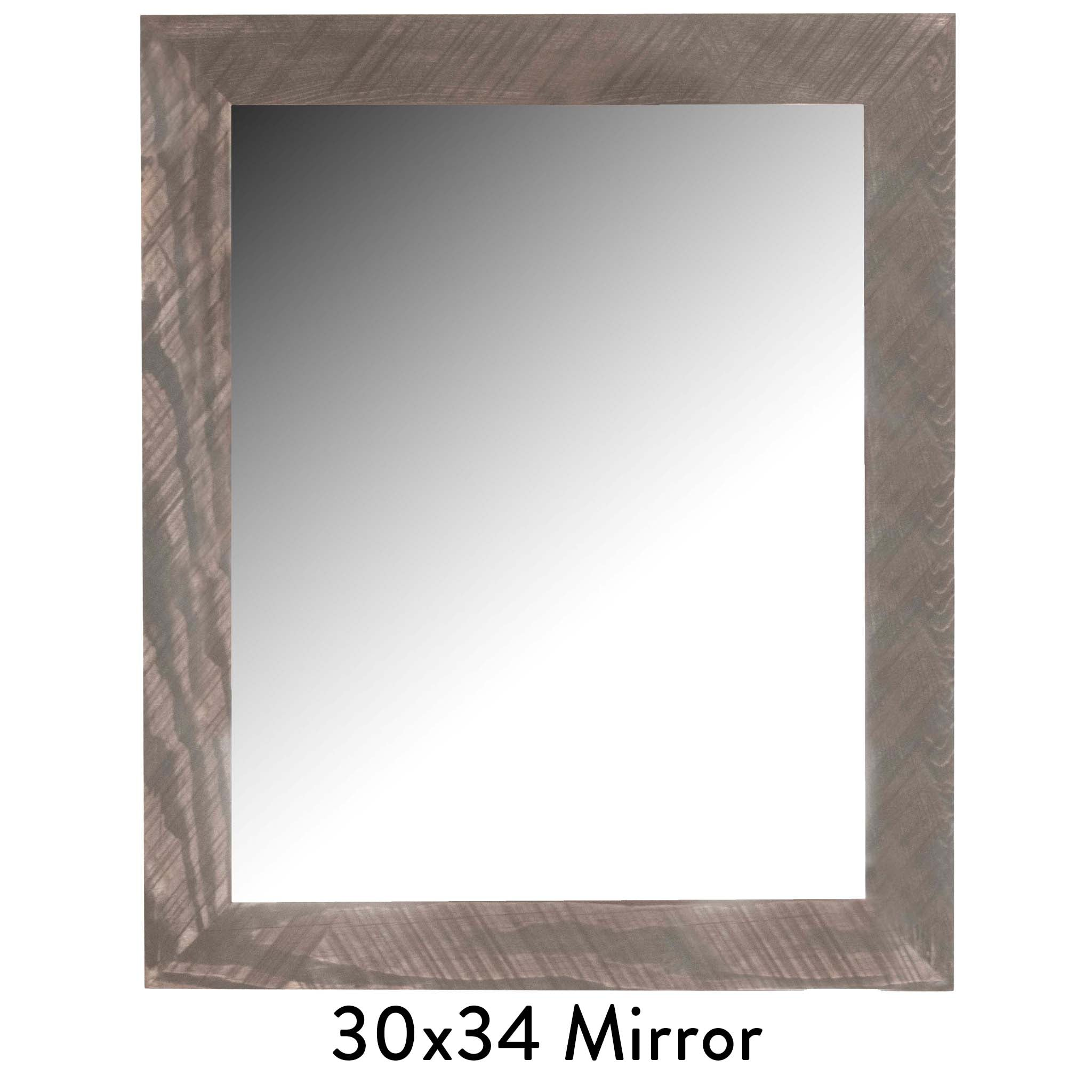 Handcrafted Vanity Mirror -- Entry Mirror, Bathroom Mirror -- Reclaimed wood from Detroit