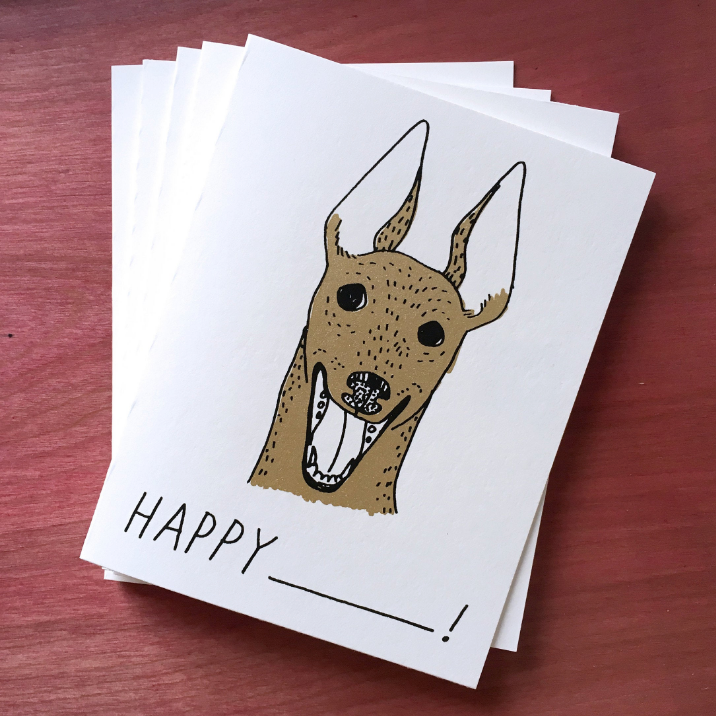 Everyday Cards - Set of 5 - Dog Happy ____