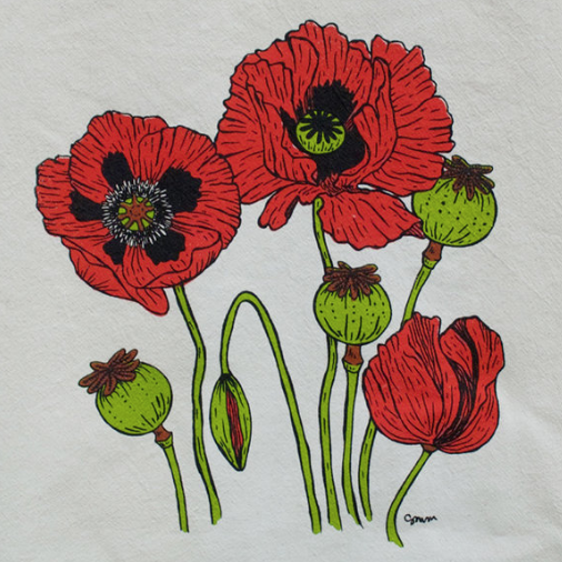 Tea Towel - Poppies