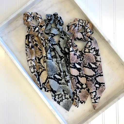 Hair Scarf Scrunchies - Snakeskin