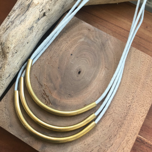 Brass + Cord Necklace, Fate & Coincidence, Handcrafted Home Goods and Gifts