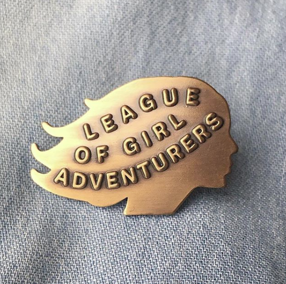 League of Girl Adventurers Brass Pin, Arsenal Handicraft, Handcrafted Home Goods and Gifts