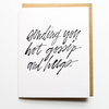 Encouragement Card - Hot Gossip And Hugs