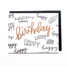 Birthday Card - Gold + Black