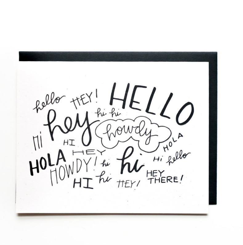 Everyday Card - Hi Howdy Hola Hello