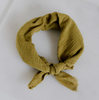 Plant Dyed Bandana Kerchief - Deep Chartreuse Cotton Gauze, Rosemarine Textiles, Handcrafted Home Goods and Gifts