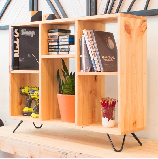 04/24 Beginner's Woodworking Workshop: Bookshelf on Hairpin Legs on Friday April 24 at 6pm