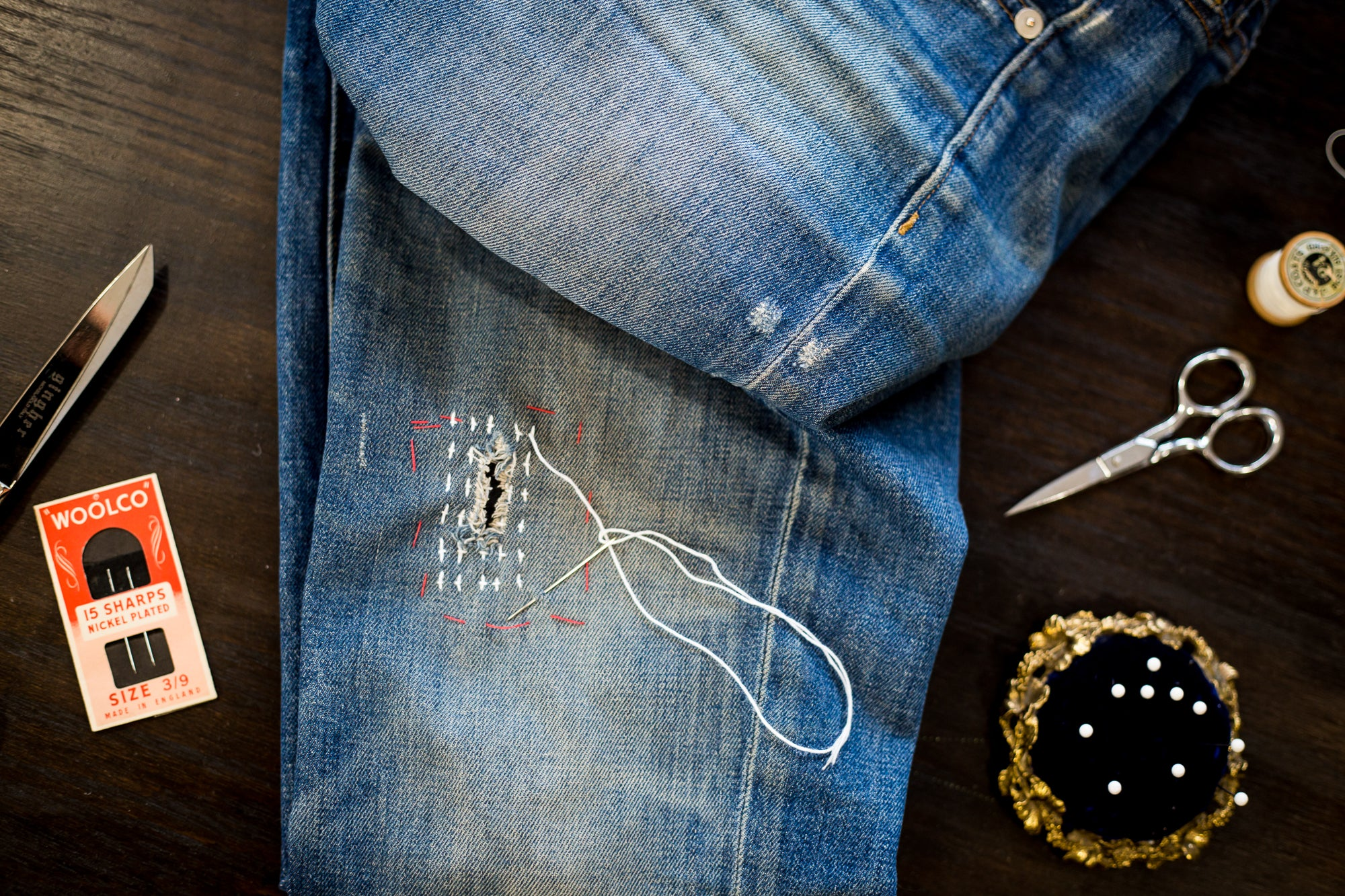 Denim Mending Workshop: Sashiko + Boro Techniques on Wednesday August 14 at 6pm